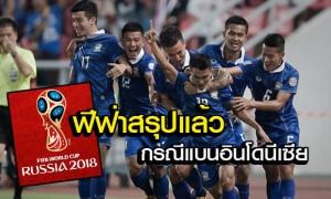 ฟีฟ่าแบนทีมชาติอินโดนีเซียออกจากบอลโลก สายอื่นตัดคะแนนนัดเจอทีมบ๊วยออก