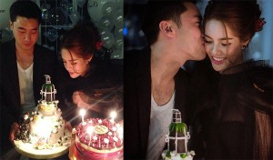 ขุนพล บรรจงจูบแก้มสาว เกรซ ในปาร์ตี้วันเกิด